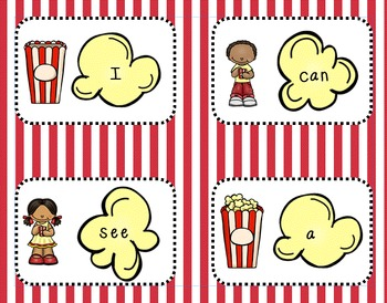 Popcorn word flash cards (high frequency words)