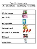 Popcorn word sentences