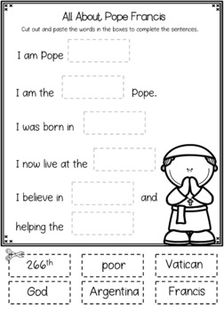 Pope Francis - K to Grade 2