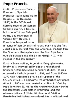 Pope Francis Handout