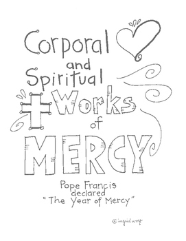 A Spiritual and Corporal Works of Mercy Booklet