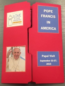 Pope Francis in America Lapbook Faith Folder