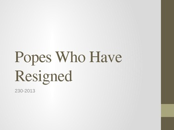 Popes who have resigned