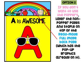 FREEBIE : Poppers Mini Book : A : Learn the Alphabet, Reading Writing Practice