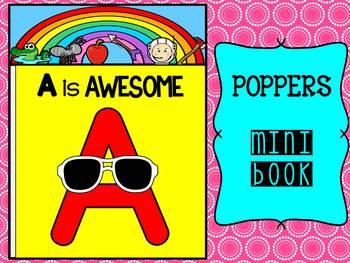 FREEBIE : Poppers Mini Book : A : Learn the Alphabet, Read