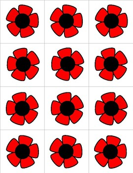 Poppies - Numbers 0-31 Pocket Chart Cards - CALENDAR