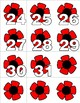 Poppies - Numbers 0-31 Pocket Chart Cards - CALENDER
