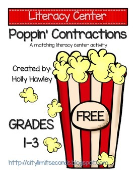 Poppin' Contractions: A Matching Literacy Center