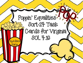 Poppin' Equalities Sort for Virginia SOL 4.16