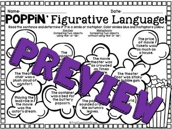 Poppin' Figurative Language (Movie Literary Device Unit)