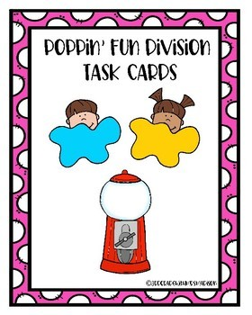 Poppin' Fun Division Task Cards