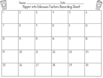 Unknown Factors Multiplication