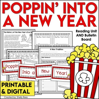 New Year's Reading Packet - Informational Text, Writing, Bulletin Board Set