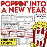 New Years 2018 Activities Reading Comprehension Passage, Writing, Bulletin Board