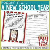 Back to School Crafts and Writing Activities