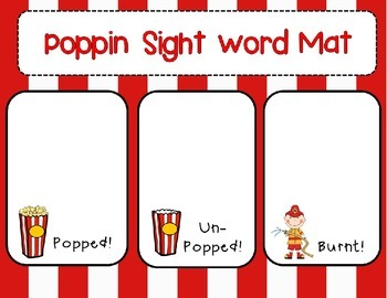 Poppin Kindergarten Sight Words