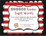 Poppin Kindergarten Sight Words
