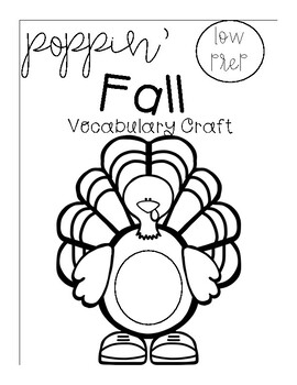 Poppin' Low Prep Fall Vocabulary Craft