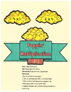 Poppin' Multiplication- COLOR