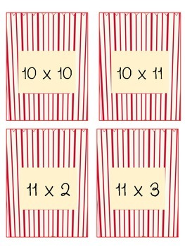 Poppin Multiplication Facts 10 & 11