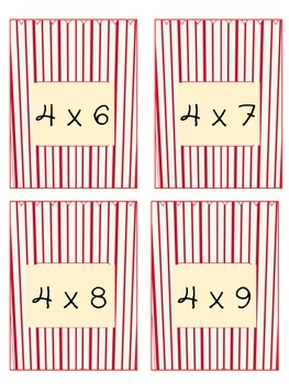 Poppin Multiplication Facts 2 - 11 BUNDLE