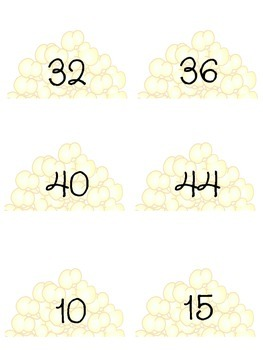 Poppin Multiplication Facts 4 & 5