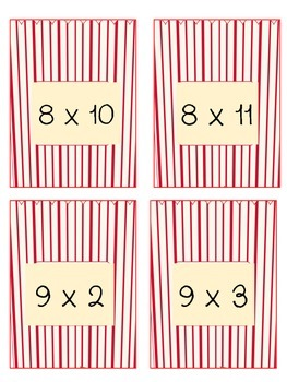 Poppin Multiplication Facts 8 & 9