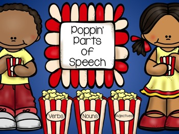 Parts of Speech- Noun, Verb and Adjective cut and paste activity