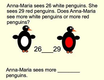 VA Math SOL 2.1 - Poppin' Penguin Number Sense Presentation