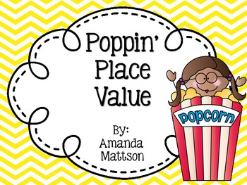 Poppin' Place Value Task Cards
