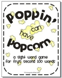 Poppin' Popcorn Words: A Sight Word Game of Fry's Second 1
