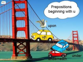 Poppin' Prepositions SMARTBoard Lesson with Task Cards