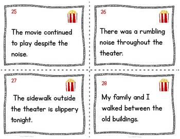 Poppin Prepositions Task Cards