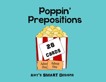 Poppin Prepositions Task Cards