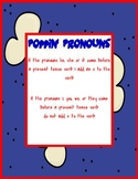 Poppin Pronouns pronoun and verb agreement popcorn/baseball theme