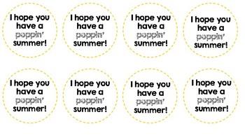 Poppin' Summer Note