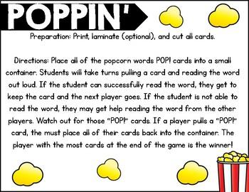 Poppin' Vowel Teams