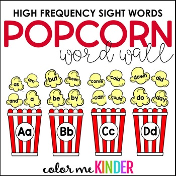 Editable Popcorn Word Wall/ Center Game