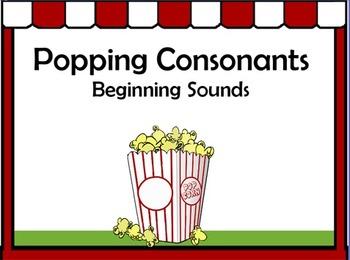 Popping Consonants Flipchart - Beginning Sounds