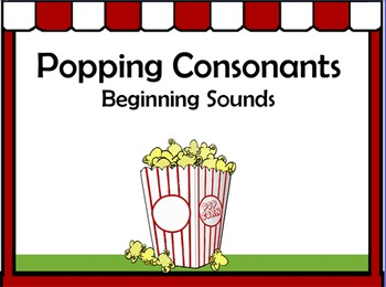Popping Consonants Notebook - Beginning Sounds