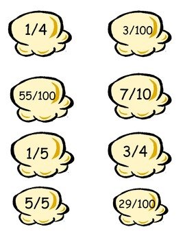 Popping Equivalent fractions, Decimals, and Percents