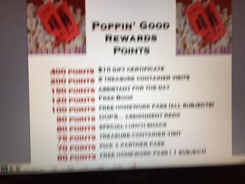 Movie Theme Rewards Packet
