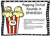 Popping Initial Sounds in Spanish - Sonidos iniciales en español