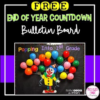 Summer countdown bulletin board (Popping Into ___ Grade)