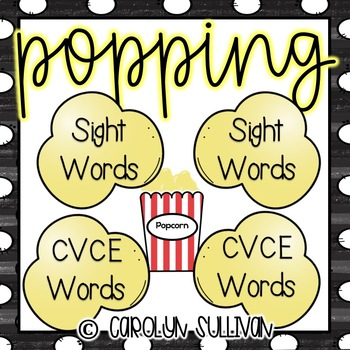 Popping Mega Pack- Letters, Sight Words, CVC Word, CVCE Word Games