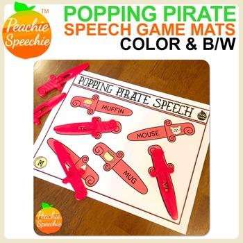 Popping Pirate Speech & Language {Sword Mats Game Companion}