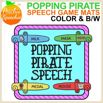 Popping Pirate Speech & Language {Sword Mats Game Companion}