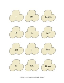 Popping Up Sight Word Activities
