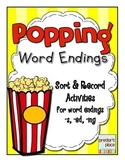 Popping Word Endings - {-s, -ed, -ing}