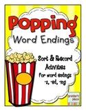 Popping Word Endings - {-s, -ed, -ing}